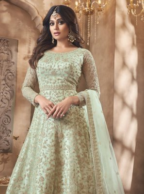 Shamita Shetty Floor Length Anarkali Suit For Mehndi