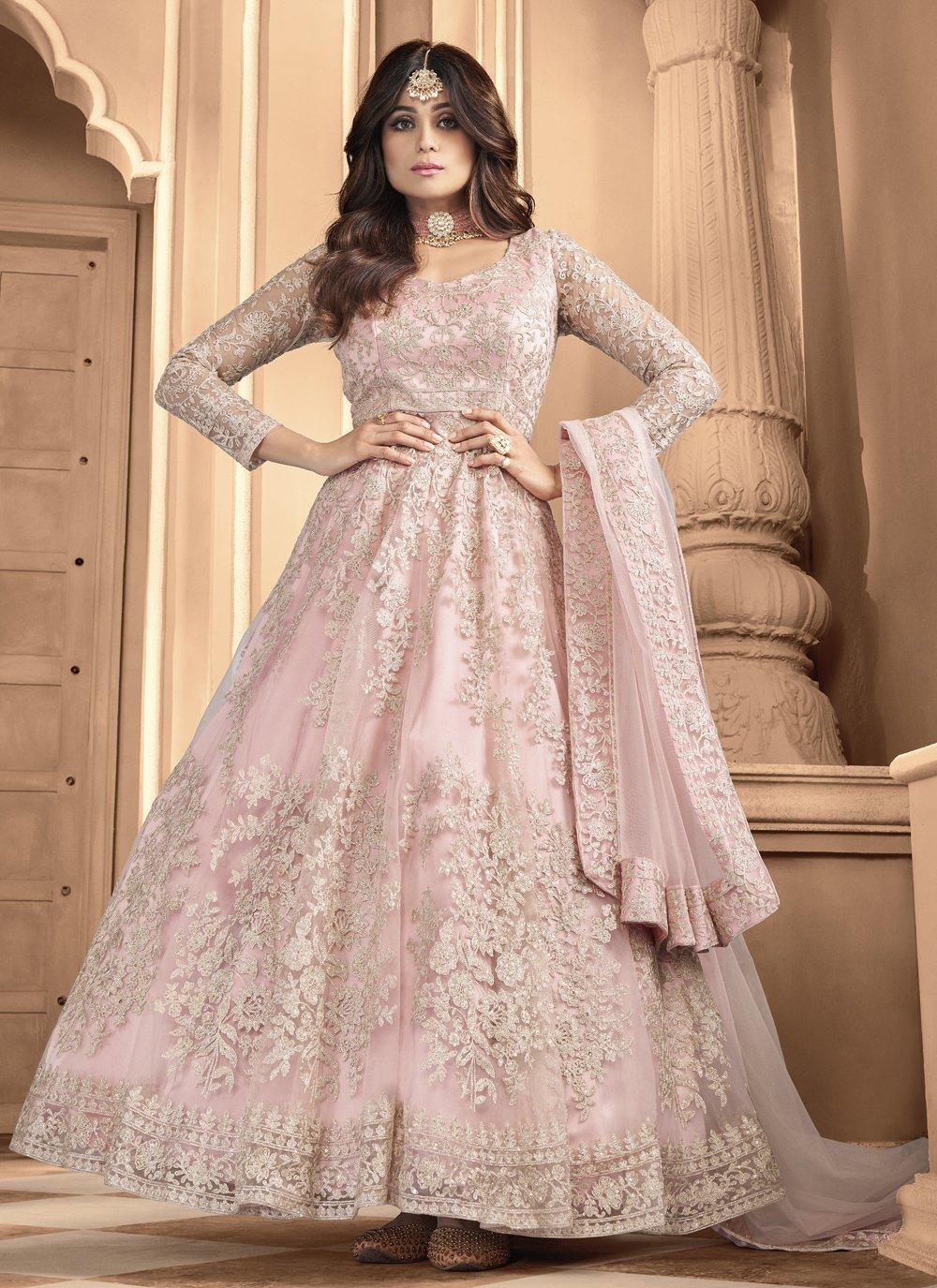 Shamita Shetty Net Floor Length Anarkali Suit