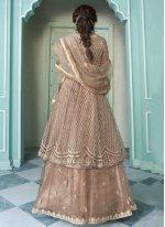 Shamita Shetty Net Lace Long Choli Lehenga