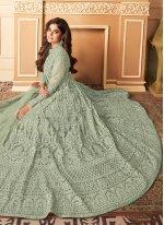 Shamita Shetty Net Wedding Designer Floor Length Salwar Suit