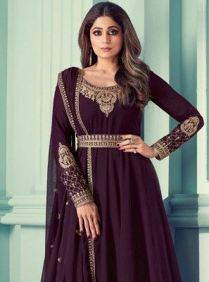 Shamita Shetty Resham Designer Suit