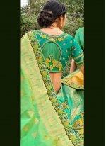 Silk A Line Lehenga Choli in Green
