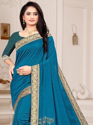 Silk Blue Classic Saree