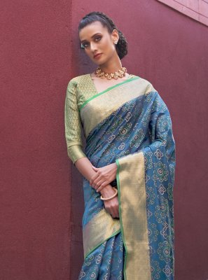 Silk Blue Traditional Saree