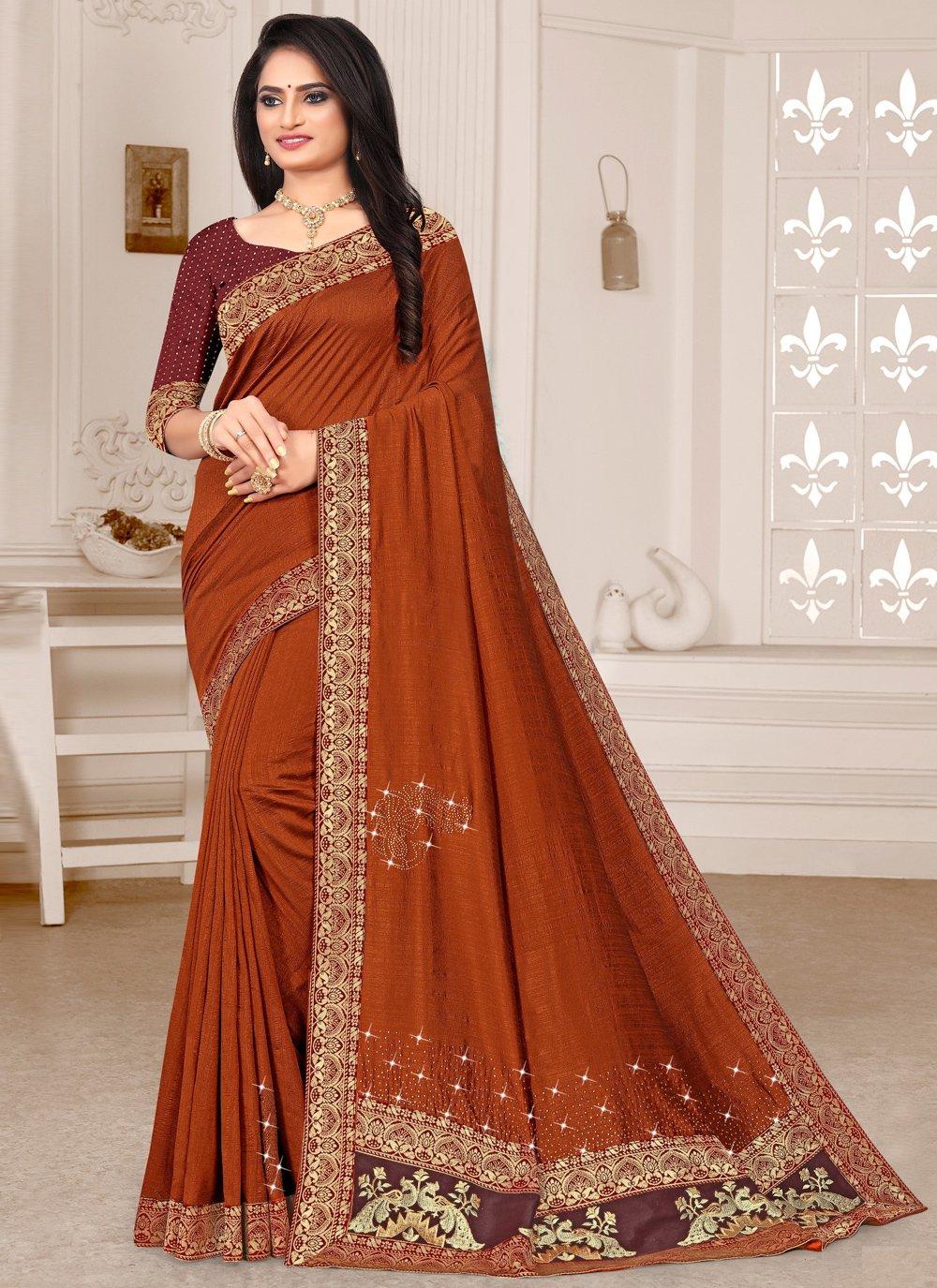 Silk Brown Bollywood Saree