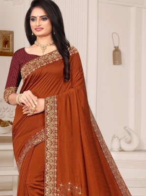 Silk Brown Bollywood Saree