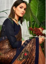 Silk Brown Trendy Saree