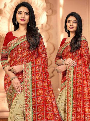 Silk Ceremonial Designer Half N Half Saree