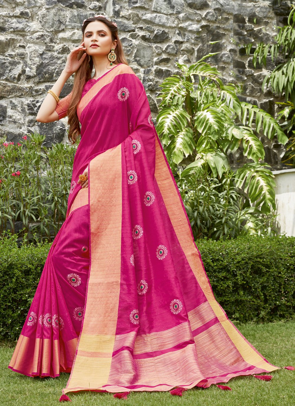 Silk Ceremonial Designer Traditional Saree