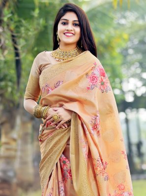 Silk Ceremonial Printed Saree