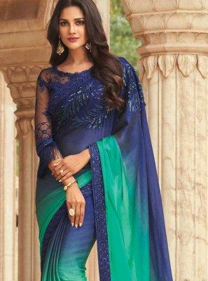 Silk Ceremonial Shaded Saree