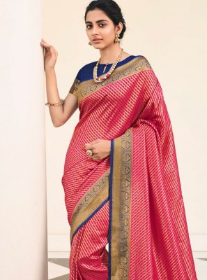 Silk Contemporary Saree in Pink
