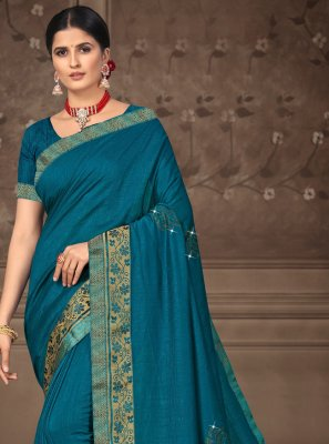 Silk Designer Saree in Blue