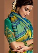 Silk Designer Saree in Yellow