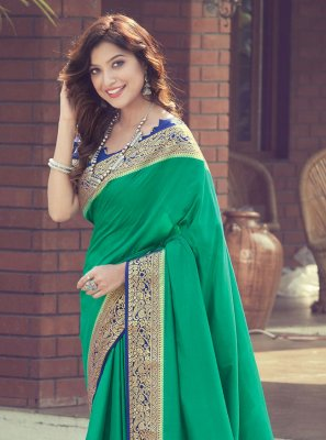 Silk Designer Traditional Saree in Green
