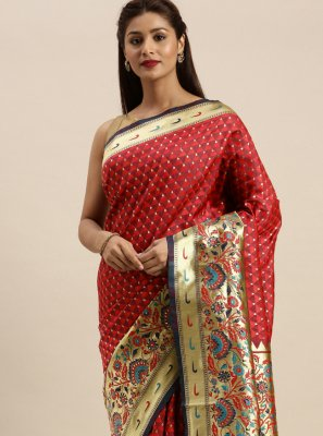 Silk Designer Traditional Saree in Maroon