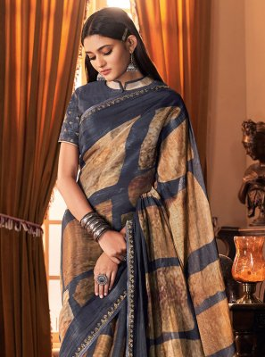 Silk Designer Traditional Saree in Multi Colour