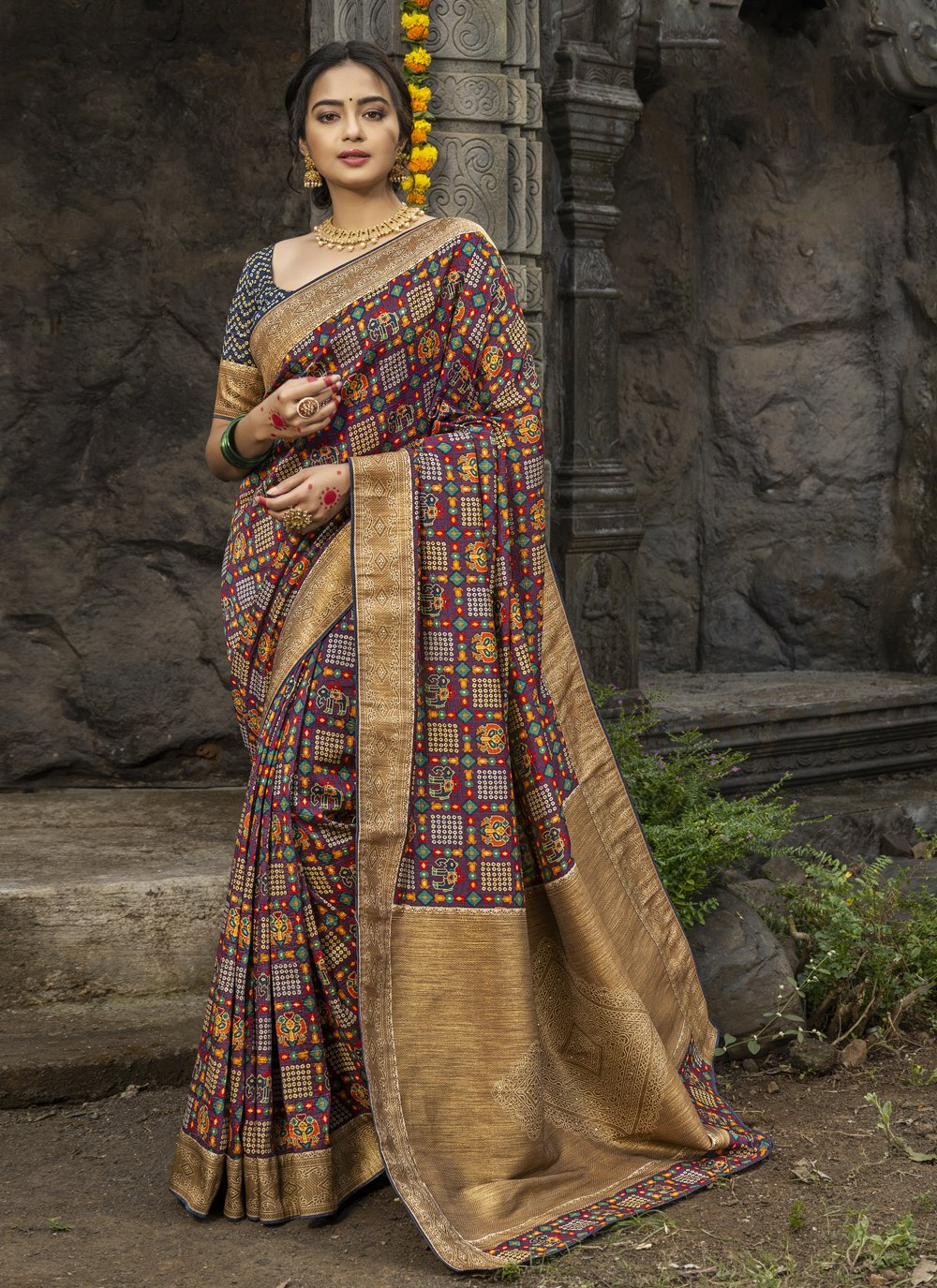 Silk Digital Print Designer Traditional Saree