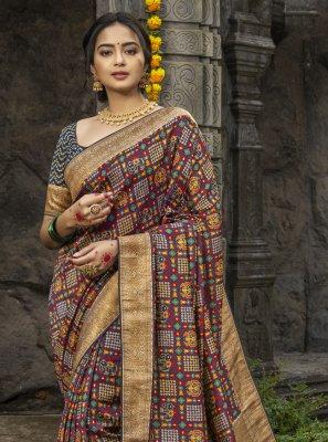 Silk Digital Print Designer Traditional Saree