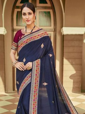 Silk Embroidered Classic Saree