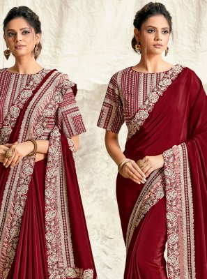 Silk Embroidered Designer Traditional Saree
