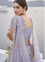 Silk Embroidered Lavender Designer Lehenga Choli
