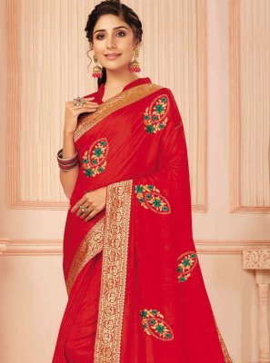Silk Embroidered Traditional Designer Saree