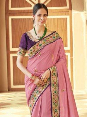 Silk Embroidered Trendy Saree