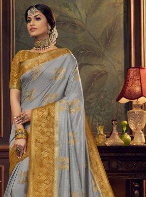 Silk Engagement Traditional Designer Saree