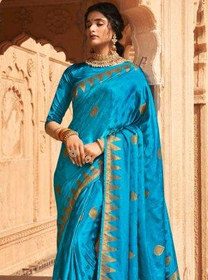 Silk Fancy Designer Traditional Saree in Blue