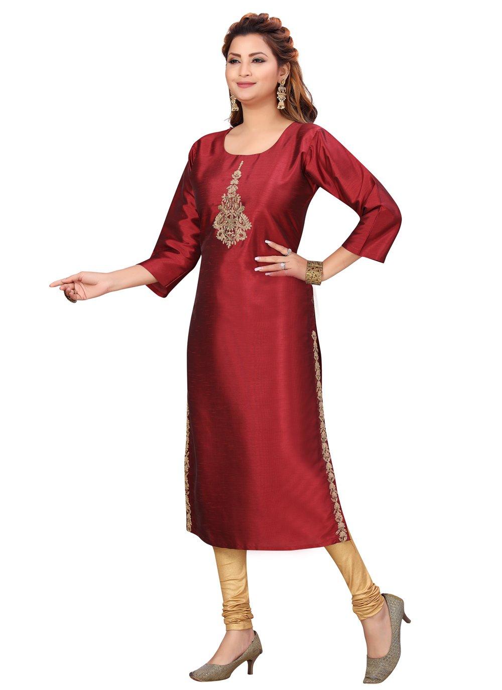 Silk Festival Party Wear Kurti