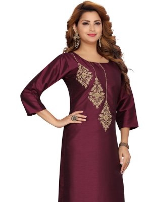 Silk Festival Party Wear Kurti