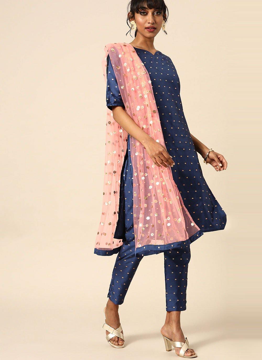 Silk Festival Readymade Suit