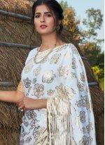 Silk Foil Print Contemporary Saree