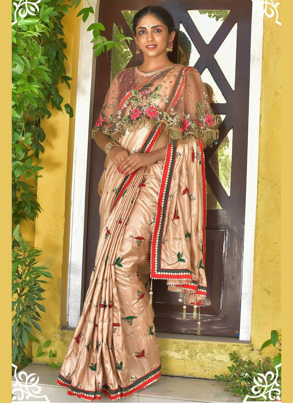 Silk Gold Handwork Traditional Designer Saree