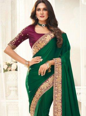 Silk Green Designer Saree