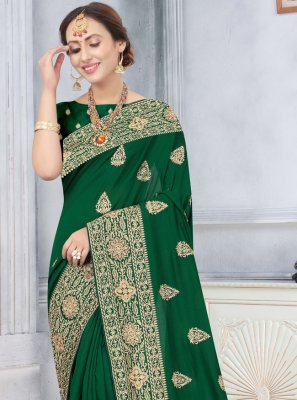 Silk Green Stone Traditional Designer Saree