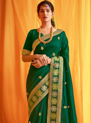 Silk Green Traditional Designer Saree