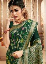 Silk Green Weaving Designer Traditional Saree