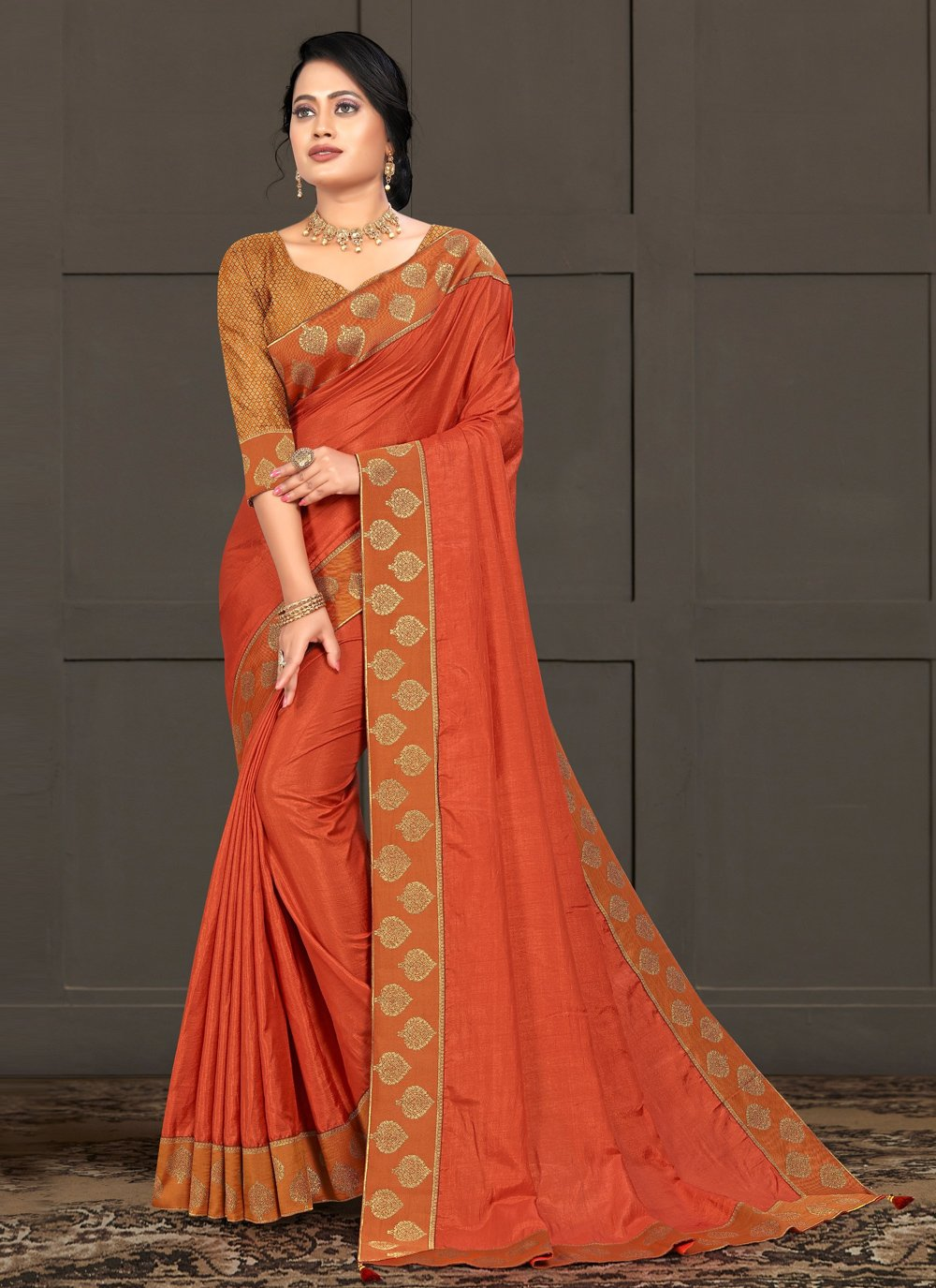 Silk Lace Bollywood Saree