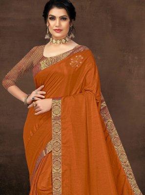 Silk Lace Casual Saree