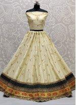 Silk Lehenga Choli in Off White