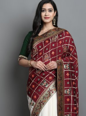 Silk Mehndi Designer Traditional Saree