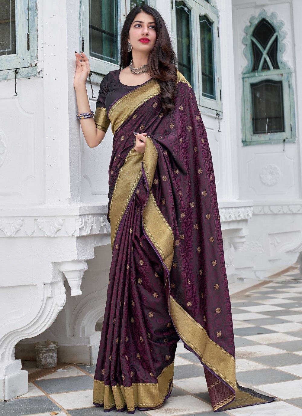 Silk Mehndi Traditional Designer Saree