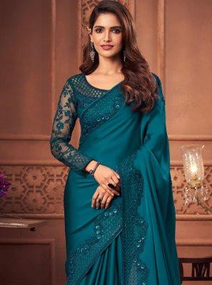 Silk Morpeach  Designer Saree