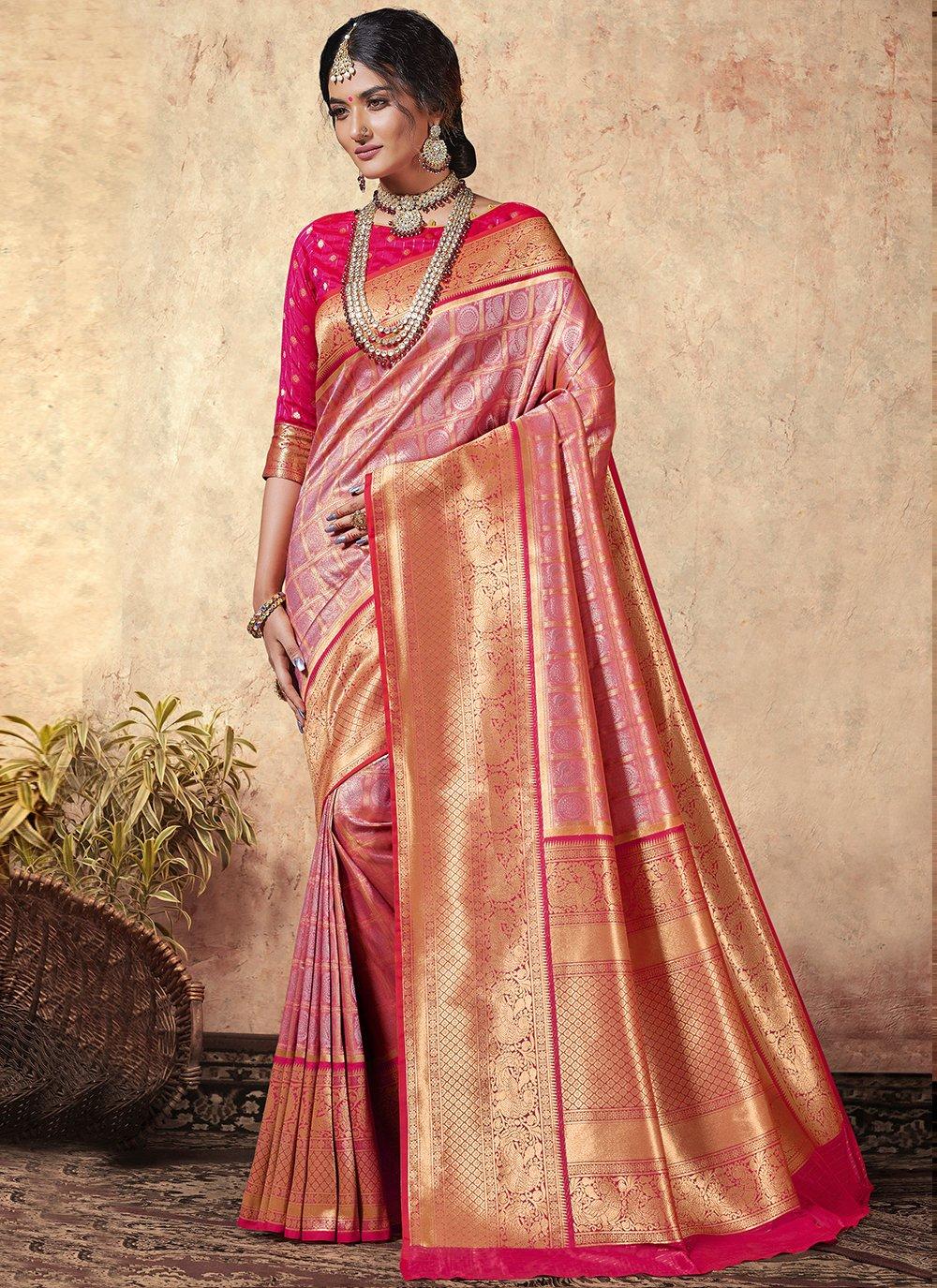 Silk Multi Colour Contemporary Saree