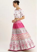 Silk Multi Colour Digital Print A Line Lehenga Choli