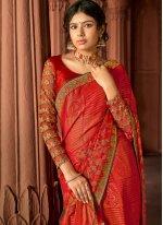 Silk Multi Colour Floral Print Printed Saree