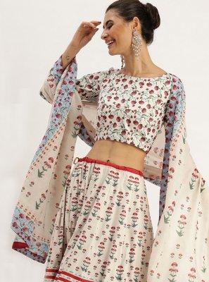 Silk Multi Colour Trendy Lehenga Choli