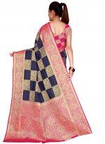 Silk Navy Blue Weaving Traditional Designer Saree